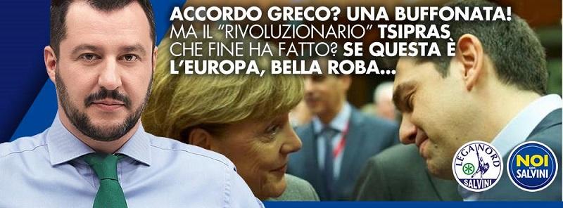 manifesto lega nord contro accordo grecia eurogruppo