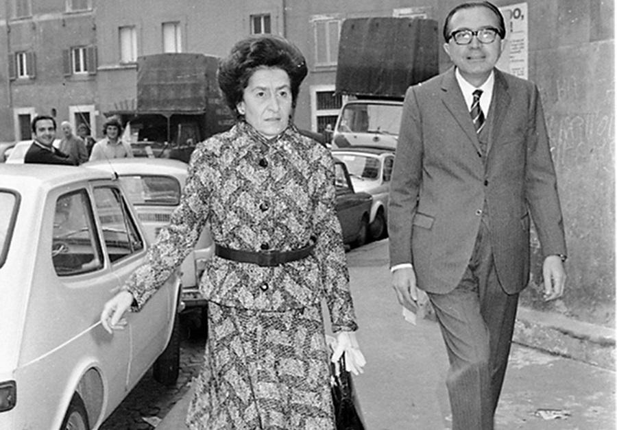 livia danese con suo marito giulio andreotti