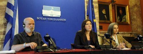 La commissione del debito greco, al centro la presidente del parlamento Konstantopoulou