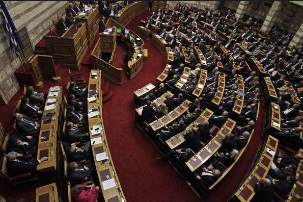 crisi grecia, foto del parlamento