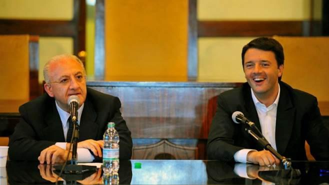 Vincenzo De Luca e il premier Matteo Renzi