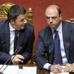 unioni civili Matteo Renzi e Angelino Alfano