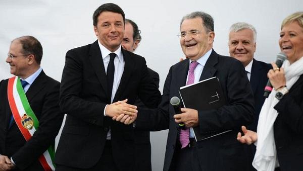 Matteo Renzi e Romano Prodi