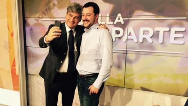 Paolo Del Debbio e Matteo Salvini
