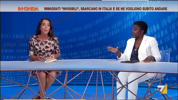Cecile Kyenge e Licia Ronzulli scontro a In Onda