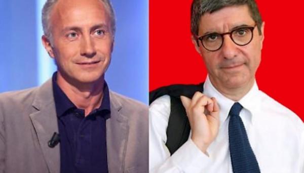 Marco Travaglio e Gianni Riotta