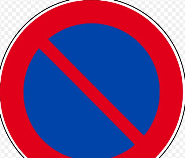 segno di divieto di sosta