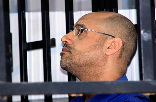 di profilo uno dei figli del dittatore libico gheddafi