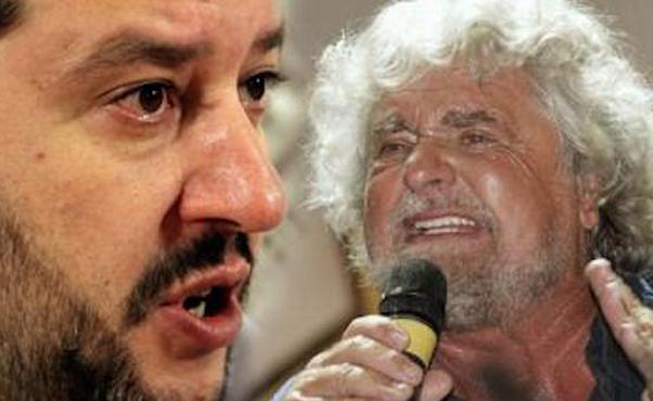 Beppe Grillo, M5S, Matteo Salvini, Lega Nord
