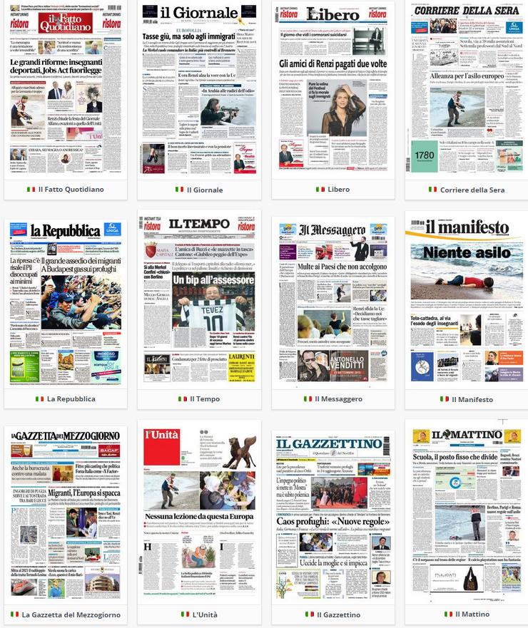rassegna stampa politica prime pagine