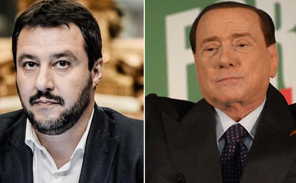 sondaggi elettorali a sinistra matteo salvini e affianco berlusconi entrambi saranno al blocca italia