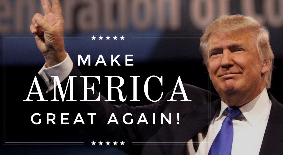 campagna elettorale, foto di Trump