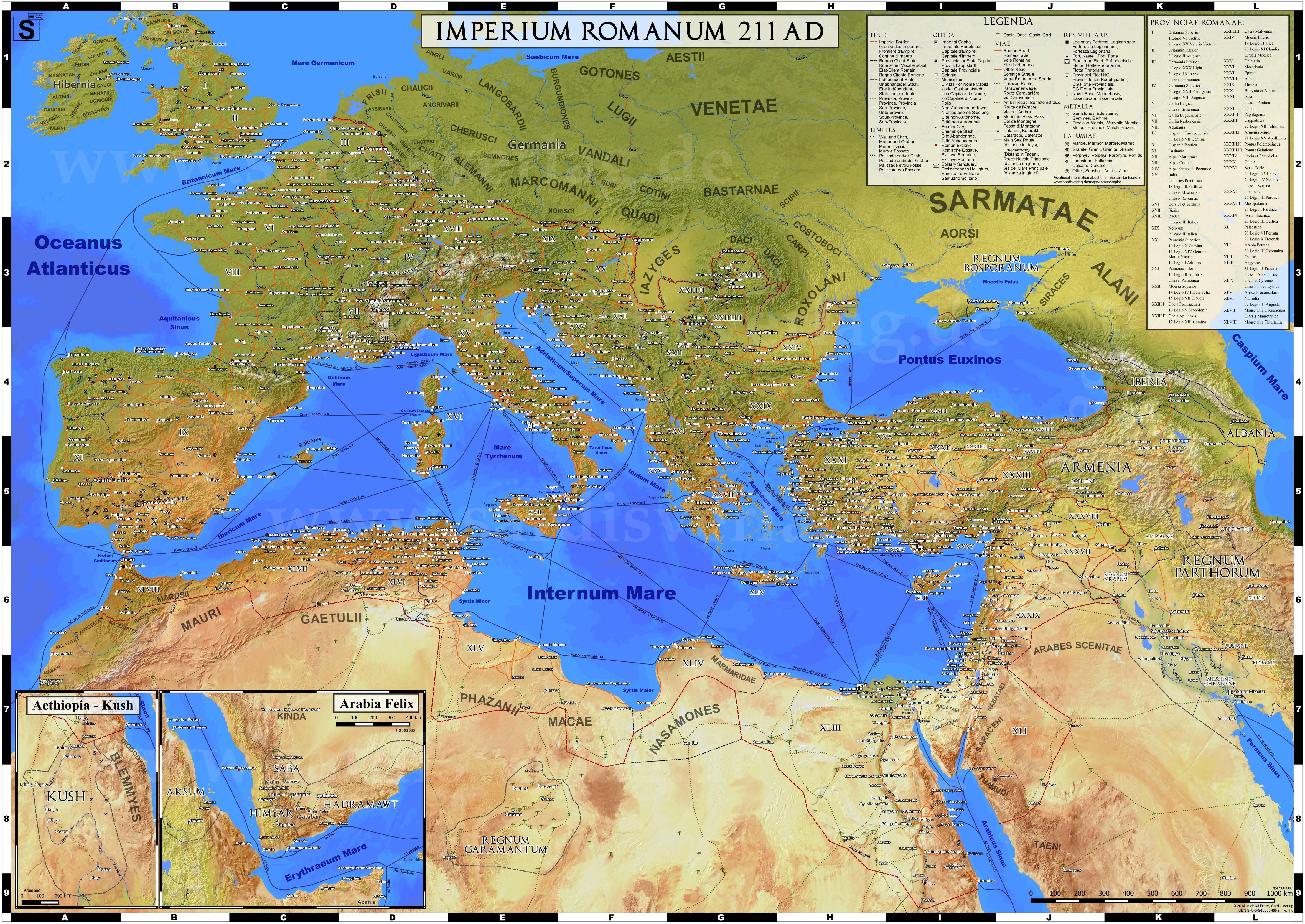 mappa impero romano