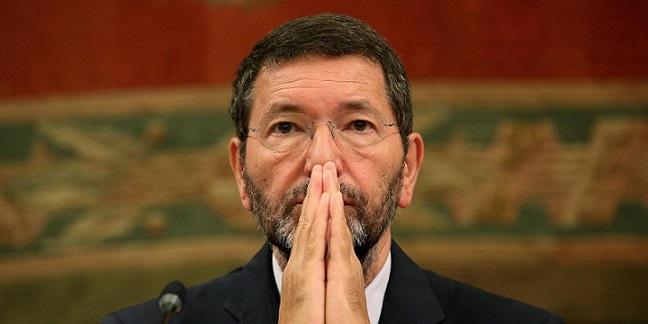 Il sindaco di Roma Ignazio Marino in Campidoglio.