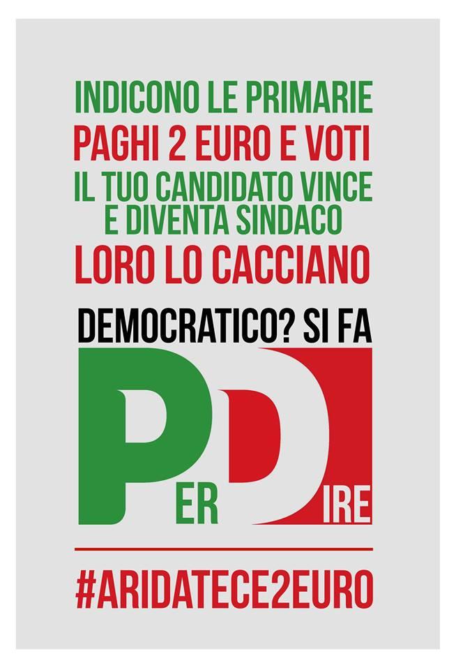 Roma, Marino, elezioni, manifesto a difesa del sindaco marino e dell'istituto delle primarie
