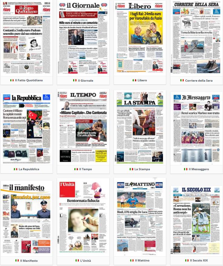 prime pagine, oggi, rassegna stampa, 29 ottobre 2015