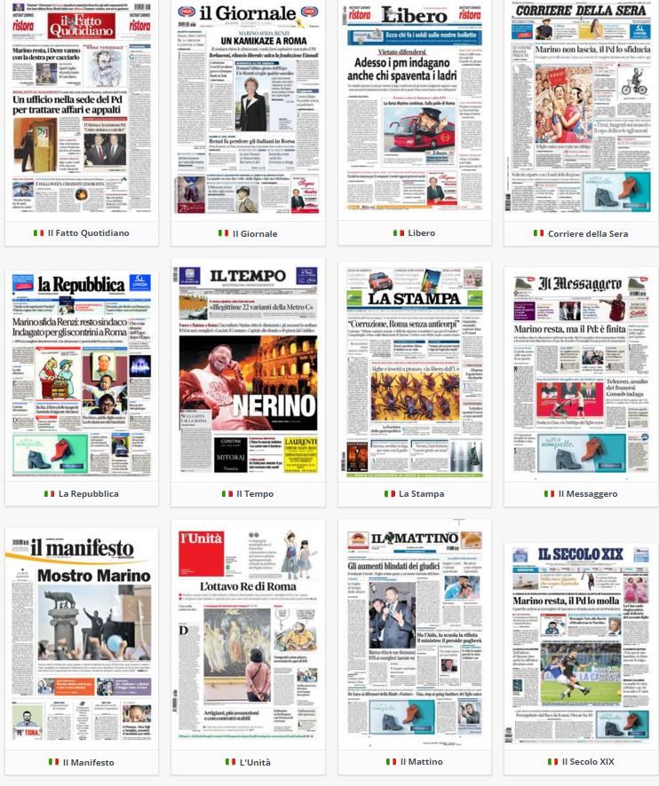 prime pagine, oggi, rassegna stampa, politica, 30 ottobre 2015