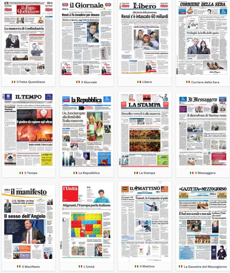 prime pagine, rassegna stampa, 28 ottobre 2015