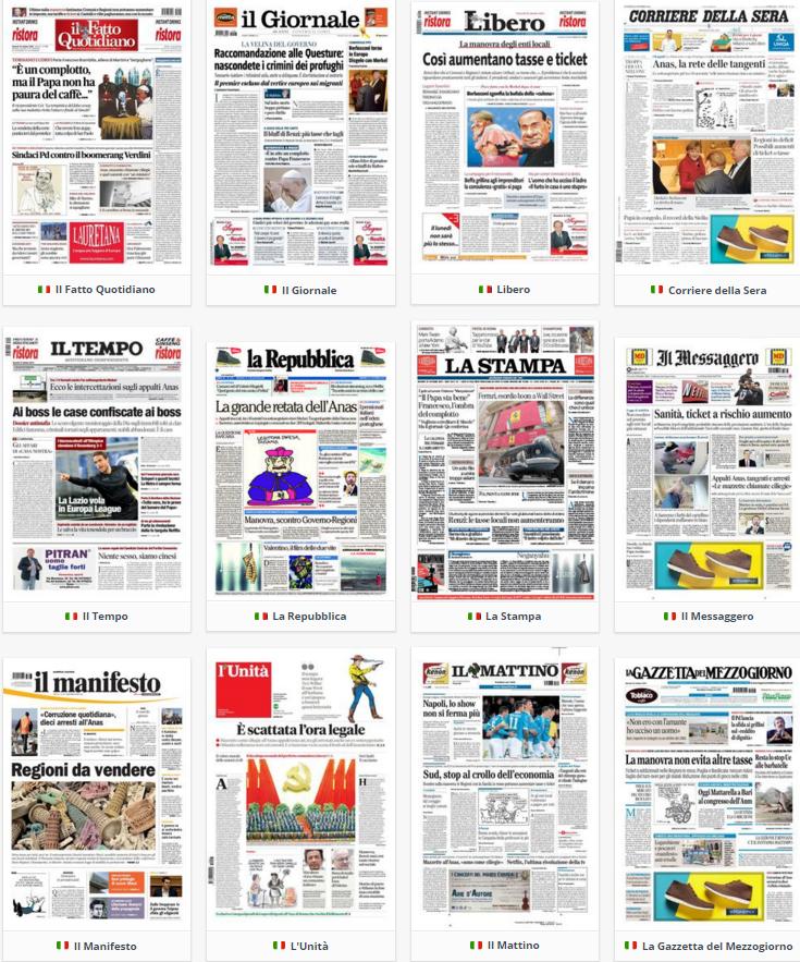 prime pagine, rassegna stampa politica, 23 ottobre 2015