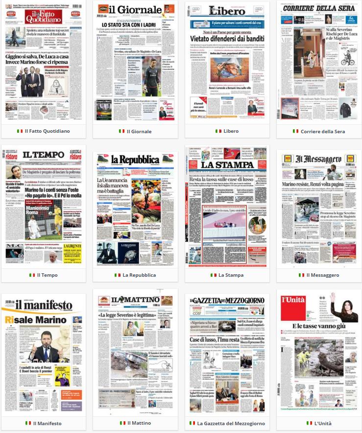 prime pagine, rassegna stampa,