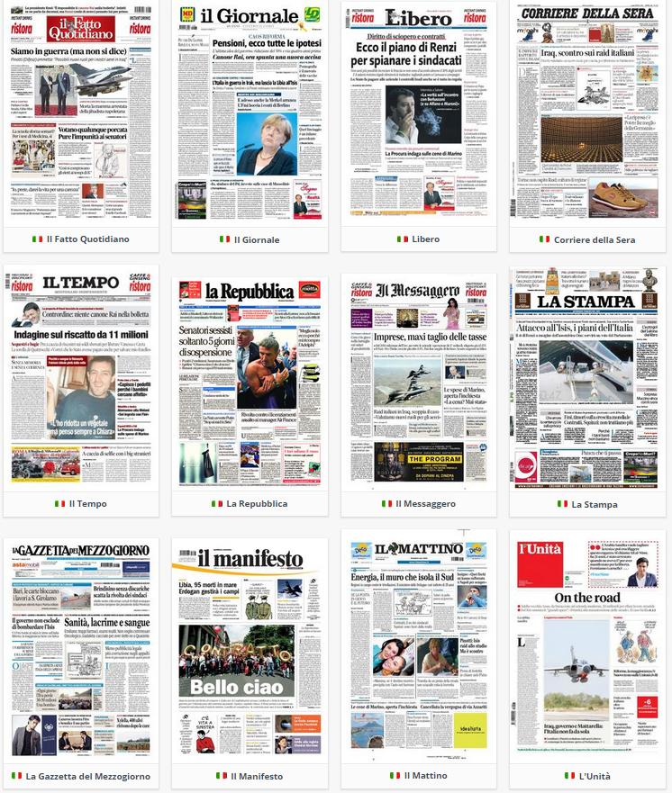 rassegna stampa politica, prime pagine