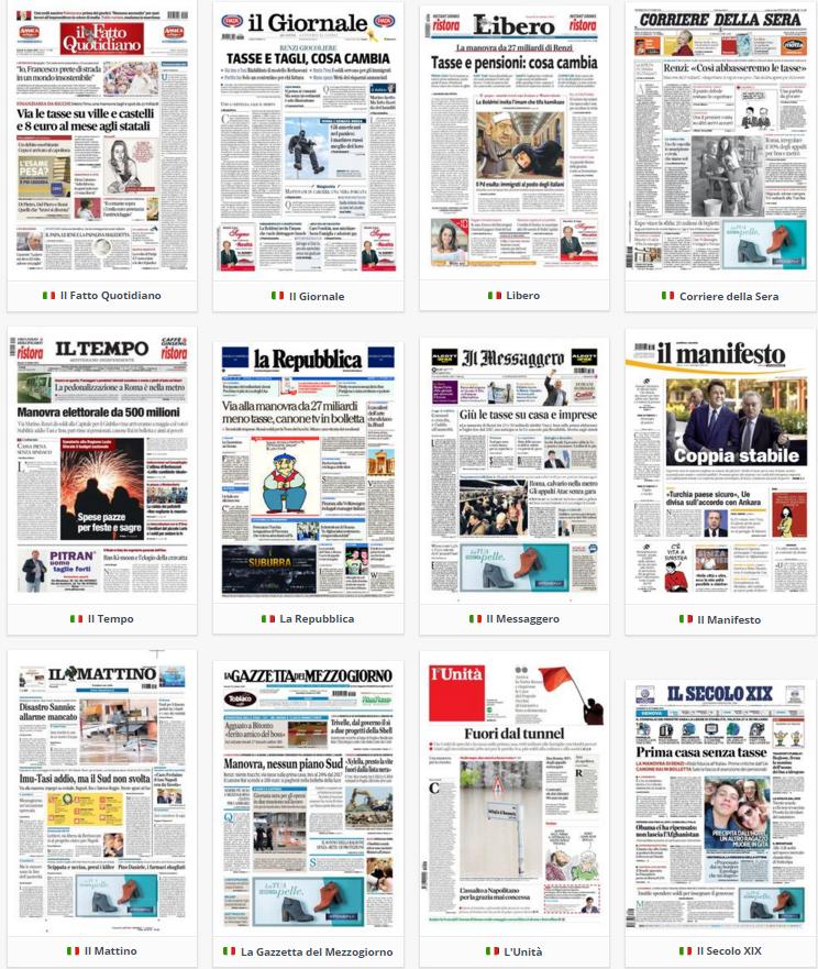 rassegna stampa politica