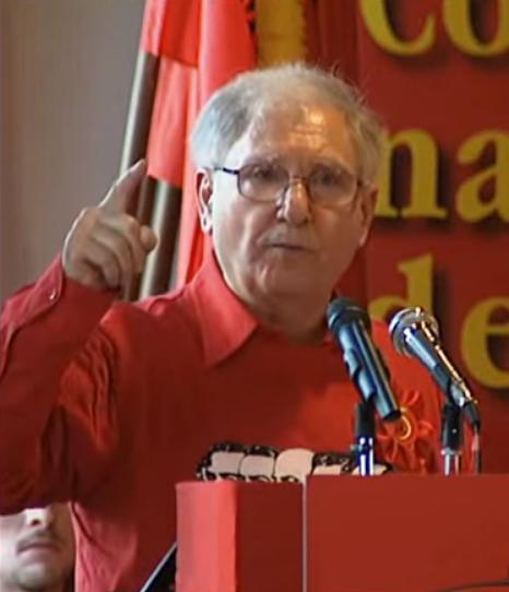 Il Segretario Giuseppe Scuderi al 5° Congresso nazionale del PMLI - Partito Marxista Leninista Italiano , 2009 - ISIS