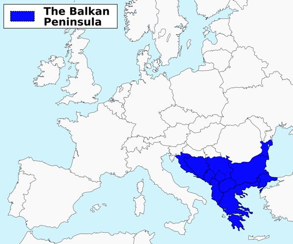Situazione Balcani, mappa penisola balcanica
