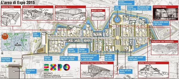 expo, milano, ricerca, piantina dei padiglioni di expo 2015 grafico a cura di ansa-centimetri