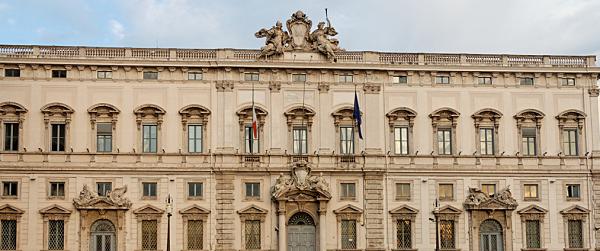 Corte Costituzionale, Barbera, Sisto, foto del Palazzo presso cui ha sede la Corte Costituzionale
