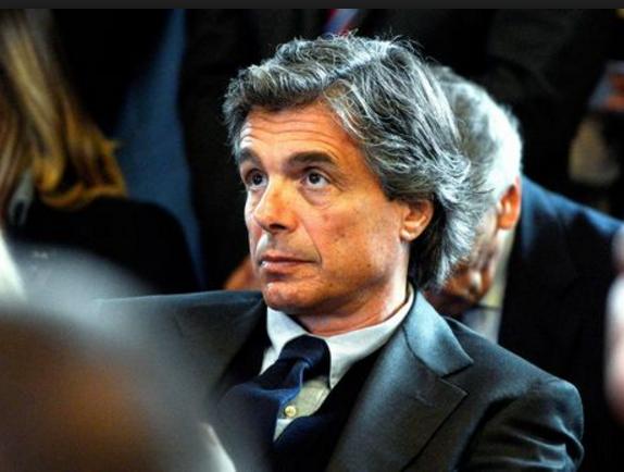 Elezioni Roma, orfini, roma, il consigliere comunale uscente e candidato sindaco alfio marchini seduto in giacca e cravatta durante in platea durante un dibattito