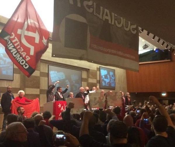 rizzo, airaudo, fassina, foto di un congresso del partito comunista