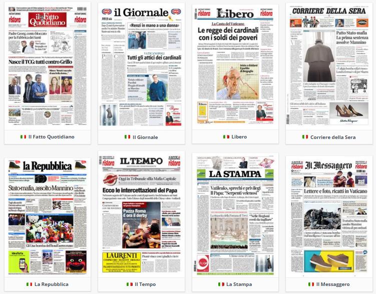 prime pagine, rassegna stampa, 5 novembre 2015