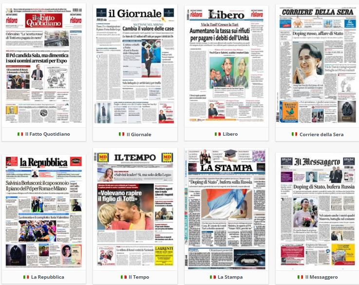 prime pagine, rassegna stampa politica, 10 novembre 2015