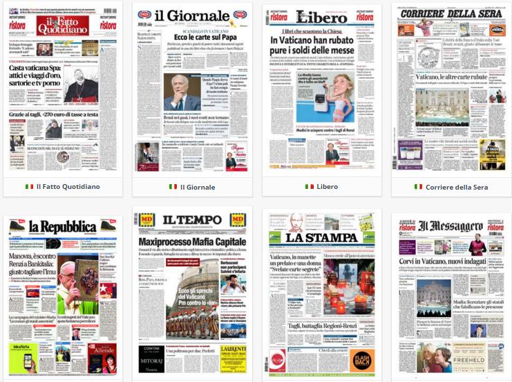 prime pagine, rassegna stampa, 4 novembre 2015