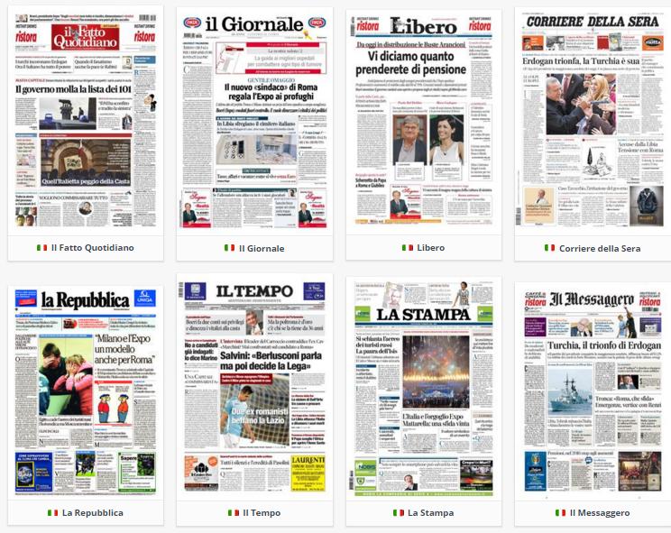 prime pagine. rassegna stampa, 2 novembre 2015
