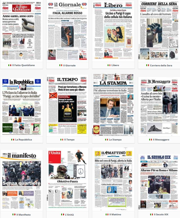 Rassegna stampa politica giovedì 19 novembre 2015