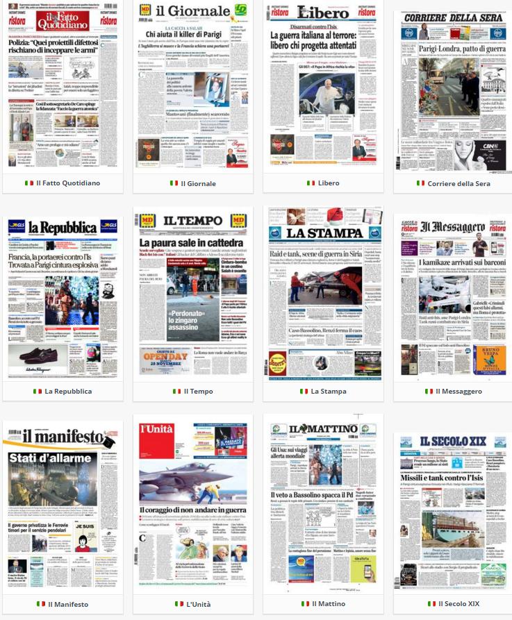 rassegna stampa, politica, 24 novembre 2015