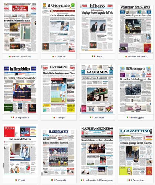 rassegna stampa, politica, 23 novembre 2015