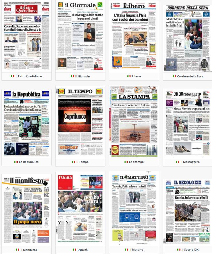 rassegna stampa, politica, 26 novembre 2015