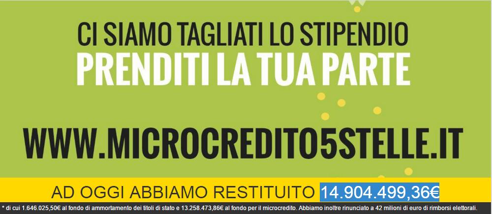 Rendicontazione Movimento 5 Stelle, sito del M5S con euro restituiti