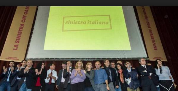 sinistra italiana, sinistra, pd, foto di gruppo dell'assemblea di sinistra italiana al teatro quirino di roma