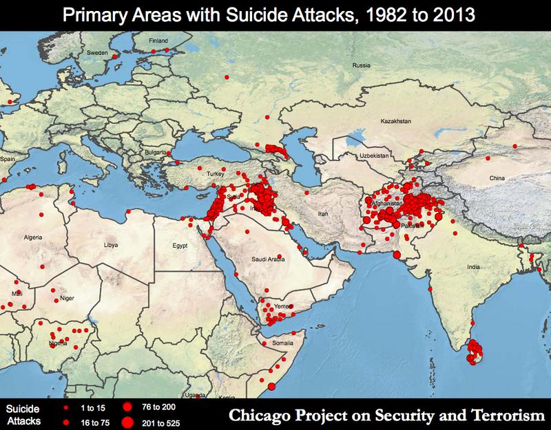 ISIS e terrorismo, mappa del Medio Oriente