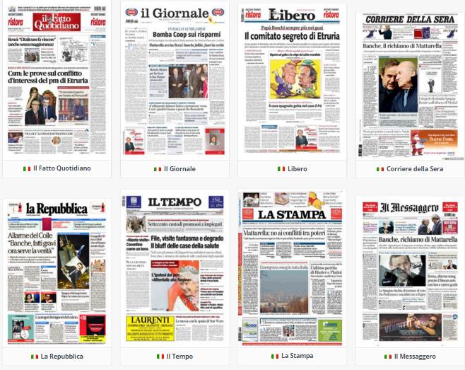 Rassegna stampa, politica, martedì 22 dicembre 2015