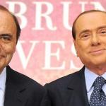 Silvio Berlusconi, Bruno Vespa, Roma, Il giornalista Bruno Vespa e Silvio Berlusconi in occasione della presentazione del libro di Vespa