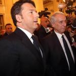 primarie milano elezioni milano, primarie, sala, balzani, il premier renzi affianco al sindaco di milano giuliano pisapia