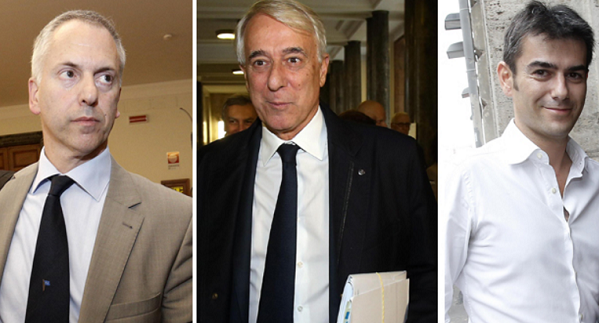 Pisapia, Zedda, Doria, sinistra, in foto da sinistra il sindaco di genova, al centro il sindaco di milano e a destra il sindaco di cagliari