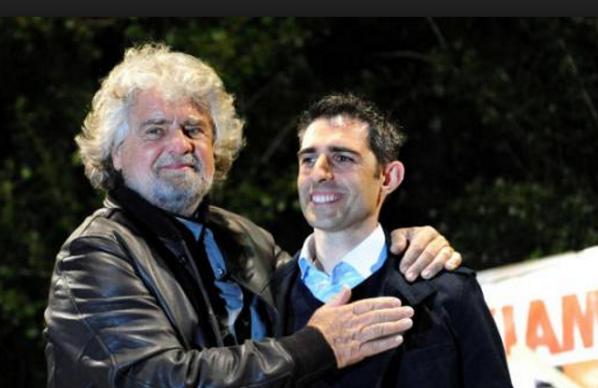 Pizzarotti, M5S, Grillo, Casaleggio, il sindaco di parma in compagnia di beppe grillo