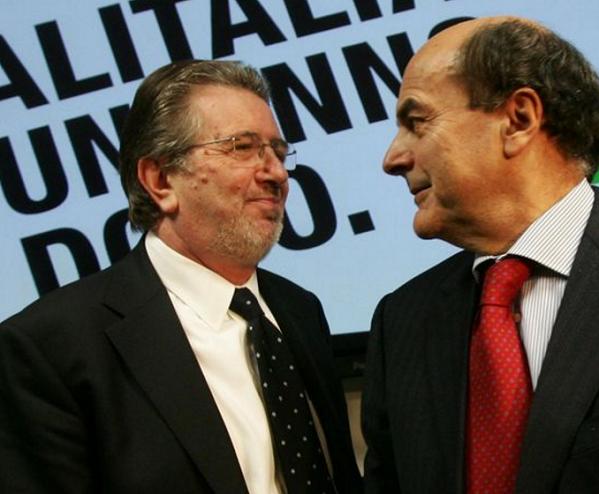 Filippo Penati, Sistema Sesto, Pierluigi Bersani, l'ex presidente della Provincia di Milano affianco all'ex segretario del Pd Bersani