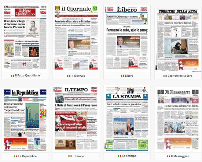rassegna stampa politica 30 dicembre 2015